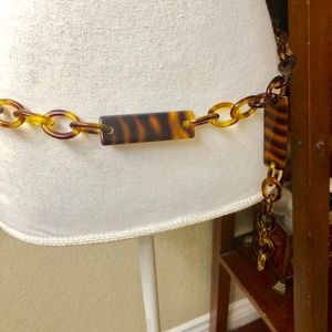 Tortoise Shell Belt Links and Bars...with hook